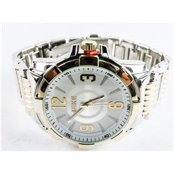 Gents Quartz Watch Large Dial 2 Tone