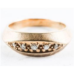 Estate 10kt Gold - Diamond Band Ring. Size 10. 5.0
