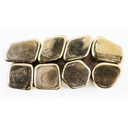 Group of (8) Magnetic Gold 'Hematite' Unusual Ston