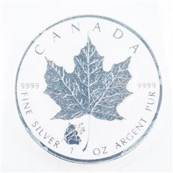 .9999 Fine Silver Maple Leaf 5.00 Coin, 2016 Panda