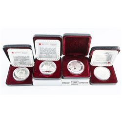 Group of (4) Silver Proof Dollars