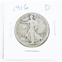 1916 (D) USA Half Dollar Scarce Date
