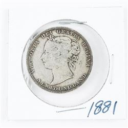 1881 NFLD 925 Silver 50 Cents