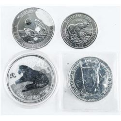 Group of (4) Collector Bullion .9999 Fine Silver C