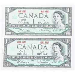 Lot (2) 1857-1967 1.00 Original Envelope From Bank