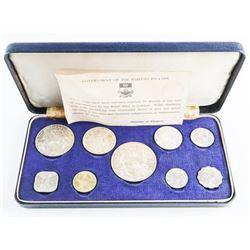 Bahama Islands, 1966 9 Coin Set, 2.8537 ASW - 925