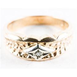 Estate 10kt Gold Diamond Band Ring - Size 6.5