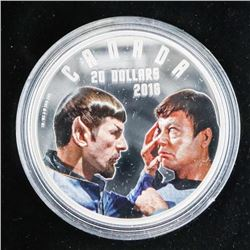 2016 .9999 Fine Silver $20.00 Coin Star Trek Mirro