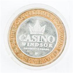 .999 Fine Silver Casino Windsor Token.