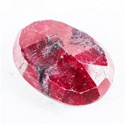 Loose Gemstone (17.51ct) Oval Cut Ruby. TRRV: $525