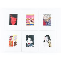 Grouping (6) Andy Warhol 4x6 Serigraphics The Deta