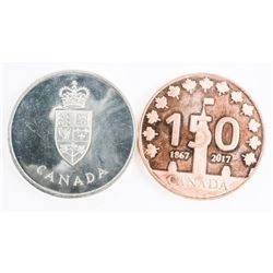 Canada 150 .9999 Fine Pure Copper Medal, Plus 925