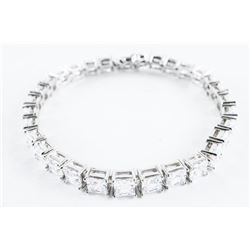 925 Silver Bracelet Matched Princess Cut Swarovski