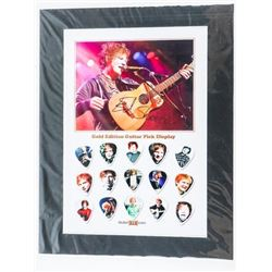 Ed Sheeran Gold Edition Guitar Pick Display LE/100