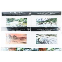 "FLY FISHING - Lithograph Set 4x 11x14"" LE Litho's"