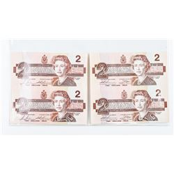 Lot (2) Bank of CANADA 1986 2.00 Sets Uncut