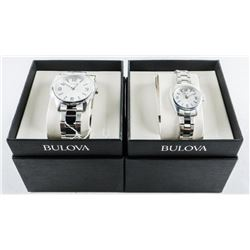 BULOVA Set His and Hers Quartz Watches (MAY NEED B