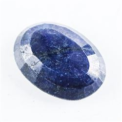 Loose Gemstone (13.59ct) Oval Cut Blue Sapphire. T