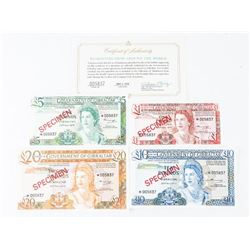 Scarce Specimen Note Set 'Government of Gibraltar'