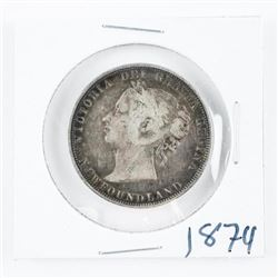 1874 NFLD 925 Silver 50 Cents (Victoria)