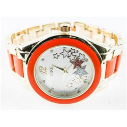 Ladies Fancy Quartz Watch (Orange)