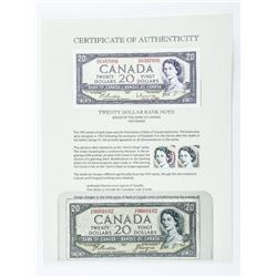 Bank of Canada 1954 20.00 Devil's Face