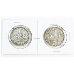 Lot (2) 1957 CANADA Silver Dollar (1WL) and (RWL)