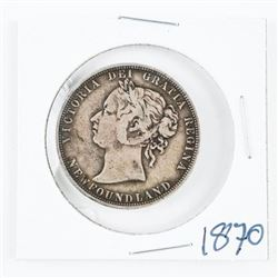1870 NFLD 925 Silver 50 Cents