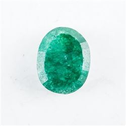 Loose Gemstone (4.85ct) Oval Cut Emerald TRRV: $14