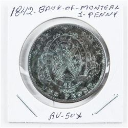 1842 Bank of Montreal 1 Penny (AU) (MXR)