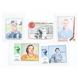 Lot (5) Sports Cards Hockey/Baseball 1960s-1970s