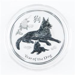 .9999 Fine Silver $2.00 Coin 'Year of the Dog' 2oz