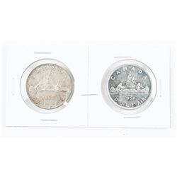 Lot (2) 1952 CANADA Silver Dollars: WL and NWL