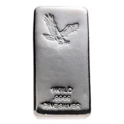 .9999 Fine Silver Eagle - 1 Kilo.