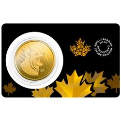 Royal Canadian Mint .99999 Fine Gold 1oz Bobcat with Assay Certificate - Collector Bullion.