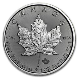 Royal Canadian Mint 1oz Platinum $50.00 Round. Collector Bullion.