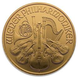 .9999 Fine Gold Austria Gold Philharmonic. 1oz. (Backdate).