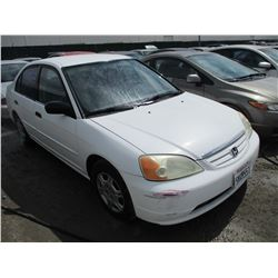 HONDA CIVIC 2001 SALV T/DONATION