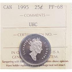 Canada 1995 25 Cents, PF-68
