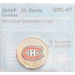 Canada 2006P Montréal Canadiens 25 Cents, UNC-67