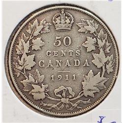 Canada 1911 Silver 50 Cents