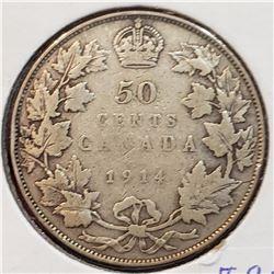 Canada 1914 Silver 50 Cents