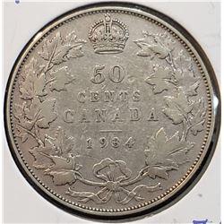 Canada 1934 Silver 50 Cents