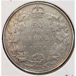 Canada 1936 Silver 50 Cents