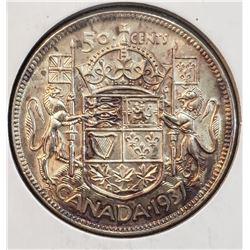 Canada 1937 Silver 50 Cents