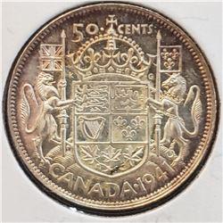 Canada 1941 Silver 50 Cents