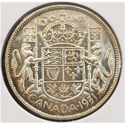 Canada 1951 Silver 50 Cents