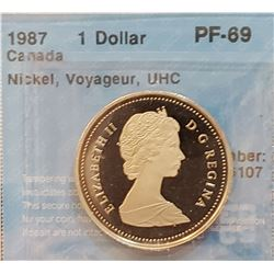 Canada 1987 Dollar, PF-69