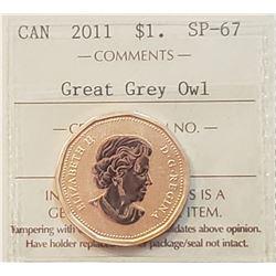 Canada 2011 Great Grey Owl One Dollar, SP-67