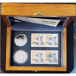 Île Sainte-Croix 2004 Silver Coins and Stamps set